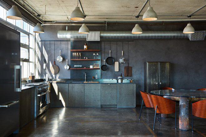 3 кухни лофт в промышленном стиле 1
