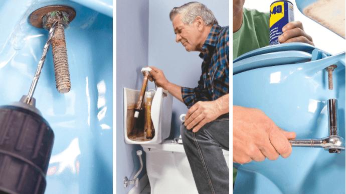 как починить унитаз своими руками