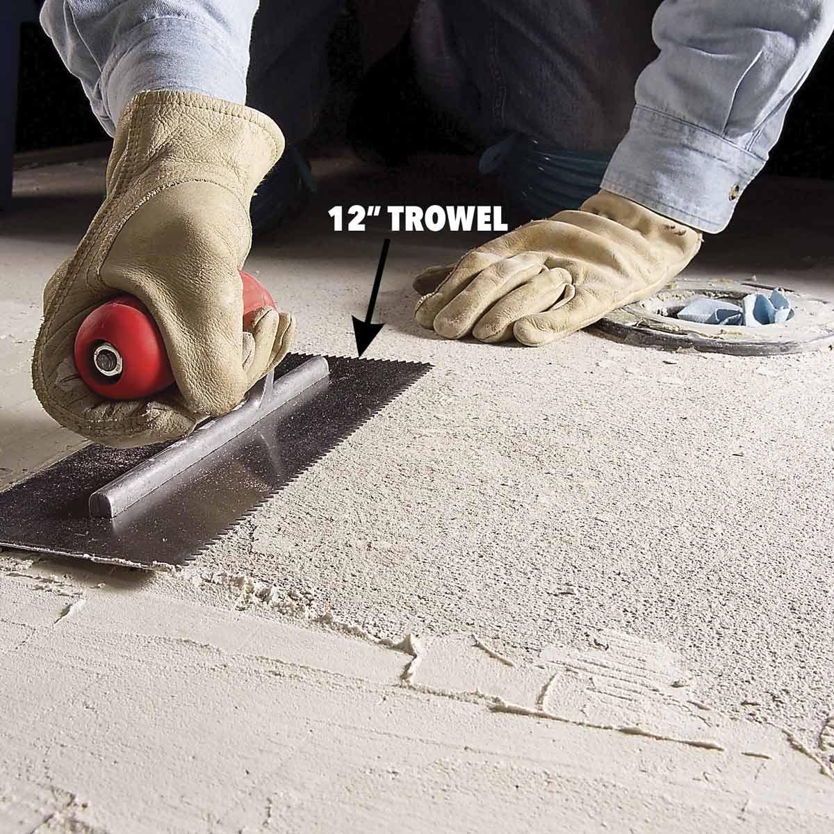 Как удалить плитку с бетонного пола - image2