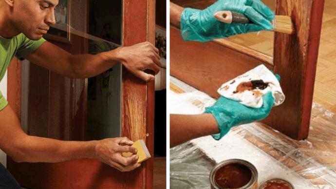 удаление царапин с межкомнатных дверей