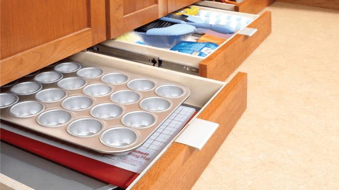 Как сделать ящики под кухонными шкафами для дополнительного хранения