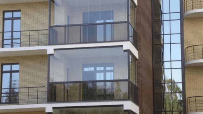 Все о комбинированном остеклении лоджий и балконов