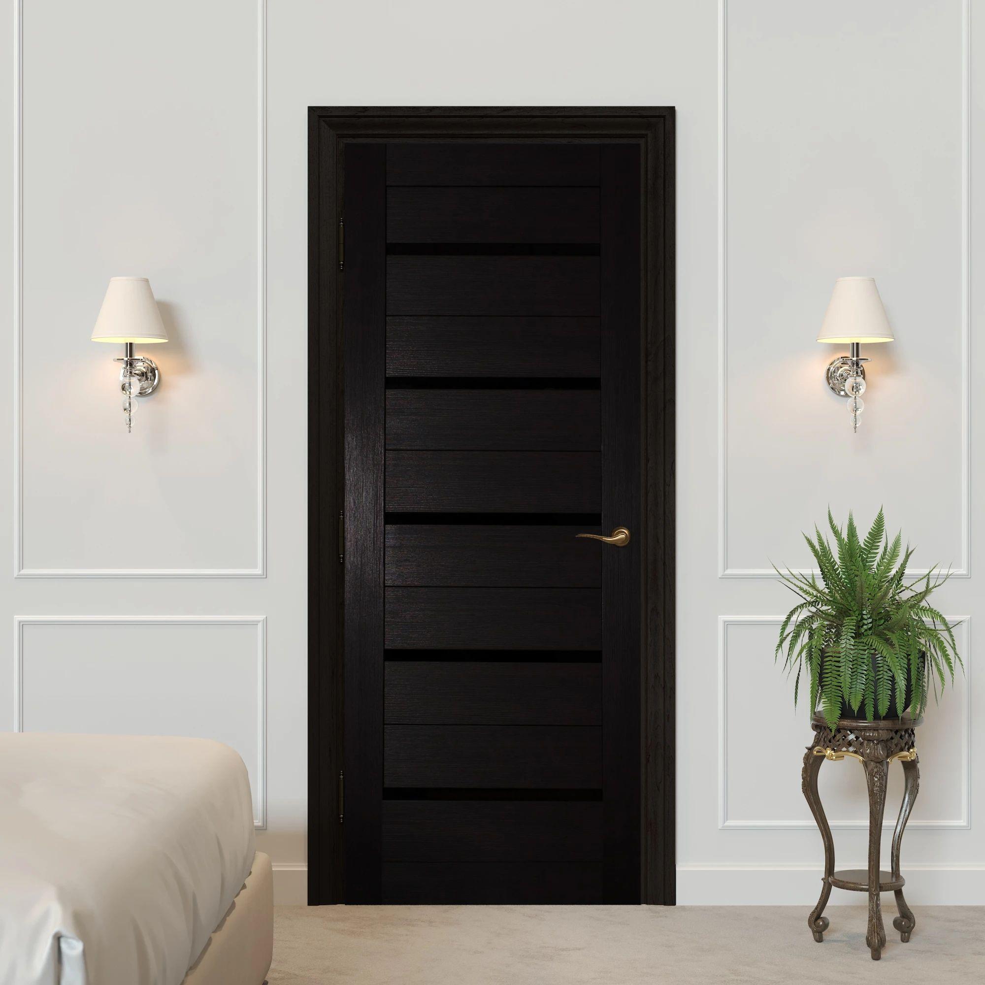 Дверь межкомнатная остеклённая Duplex 60x200 см, искусственный шпон, цвет венге 1